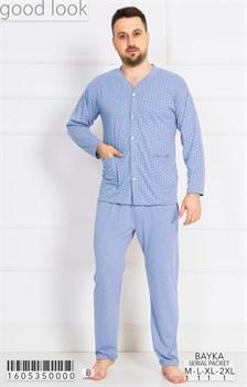 Пижама мужская байка - фото 7876
