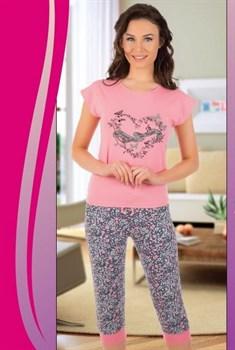 Комплект футболка капри - фото 7969