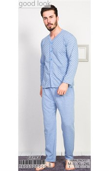 Пижама мужская байка - фото 8033