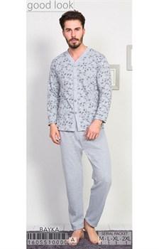 Пижама мужская байка - фото 8037