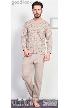 Пижама мужская байка - фото 8041