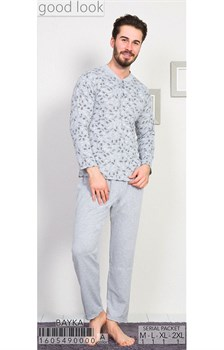 Пижама мужская байка - фото 8043