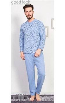 Пижама мужская байка - фото 8045