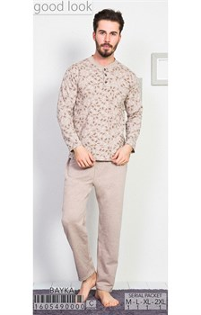 Пижама мужская байка - фото 8047