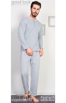 Пижама мужская байка - фото 8049