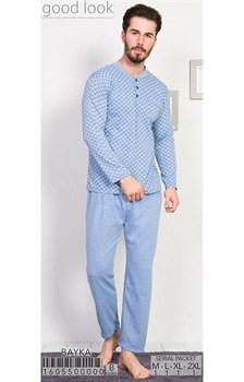 Пижама мужская байка - фото 8053