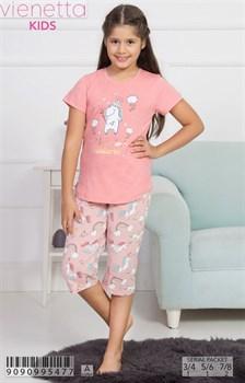 Комплект детский футболка капри - фото 8116