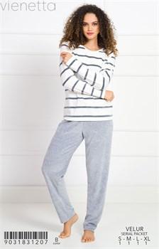 Пижама велюр - фото 8119