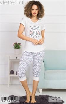 Комплект футболка капри - фото 8253