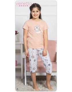 Комплект детский футболка капри DREAM - фото 8290