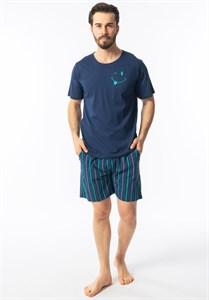 Мужская пижама Gazzaz Турция (футболка и шорты Gaz53350)
