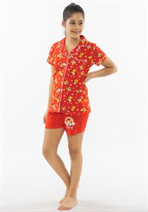Комплект детский красная футболка  и шорты