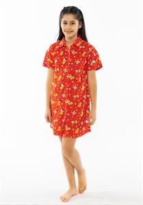 Платье-рубашка подростковая