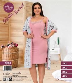 Женский халат с ночной сорочкой