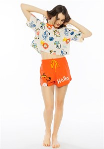 Женский комплект футболка и шорты