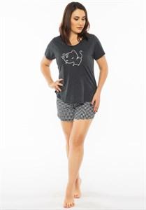 Женский комплект футболка и шорты большого размера