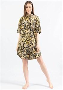 Платье-рубашка с коротким рукавом