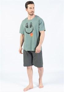 Комплект мужской для отдыха футболка капри
