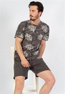 Комплект мужской для отдыха футболка и шорты