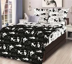 Комплект постельного белья ЛидерТекс бязь Черный кот
