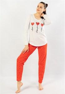 Пижама с длинным рукавом женская