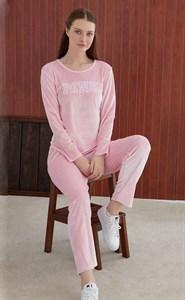 Женская пижама  из велюра с брюками Angel`s Secret