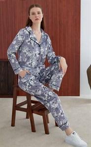 Женская пижама из велюра на пуговицах  Angel`s Secret
