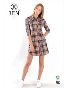 Платье-рубашка фланель