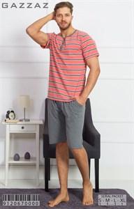 Комплект футболка длинные шорты