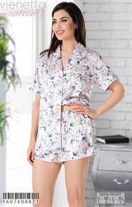 Комплект рубашка шорты шелк sateen