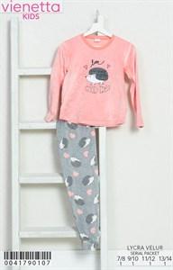 Пижама детская велюр